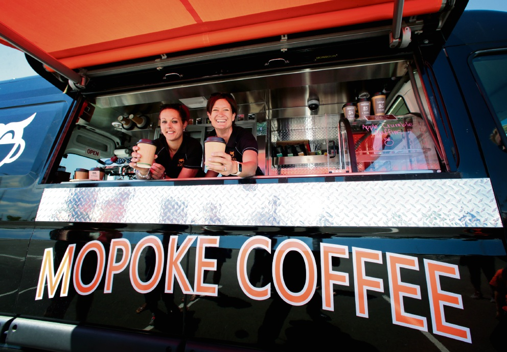 Alisha Parrella and Kate Kendrick, of Mopoke Coffee, voted by some as the best coffee in Perth. Picture: David Baylis www.communitypix.com.au   d462509
