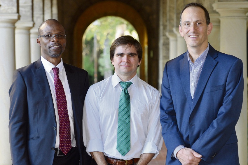 Fiona Stanley Hospital's Dr Oyekoya Ayonrinde with Dr Nathan Harvey and Dr Andrew Martin.