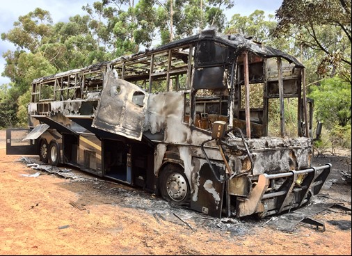 Arson suspected after motor home destroyed near Dwellingup