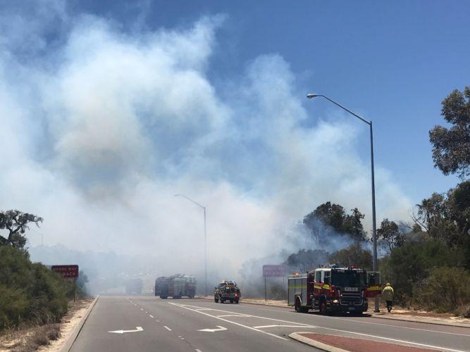 The blaze in Bateman. Photo: Matt Jelonek