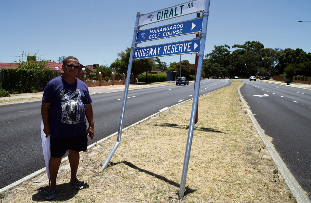 James Peters is calling for a crash barrier along the road near his house.