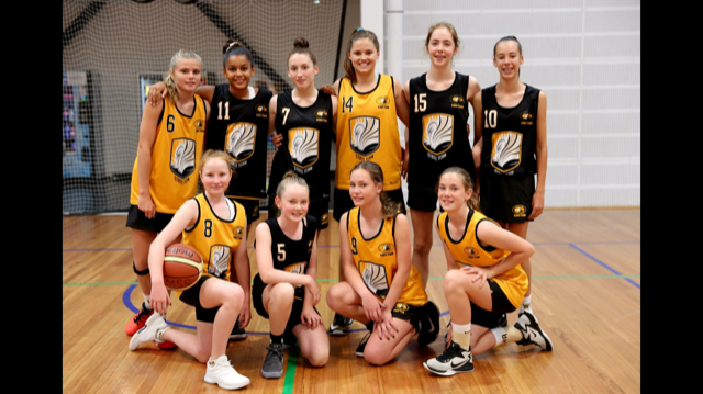 San Remo resident Katie Duncan and the 12 years and under girls basketball state team.
