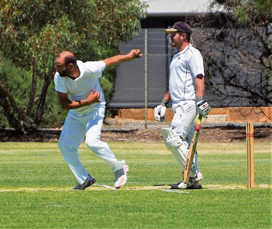 SJ Blues bowler Yash Bassran was in good form for his side on Saturday.