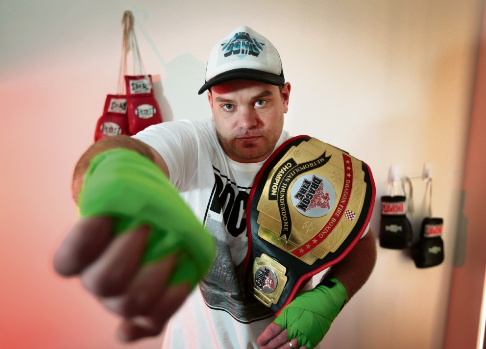 Power: Professional boxer Hayden 'H-Bomb' Wright. Picture: David Baylis  d477976