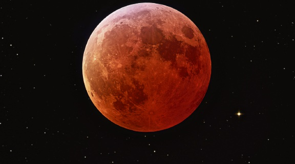 The super blue blood moon. Picture: NASA