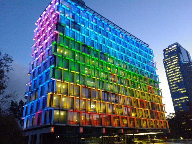 City of Perth Council House lit up. Picture: Wikipedia