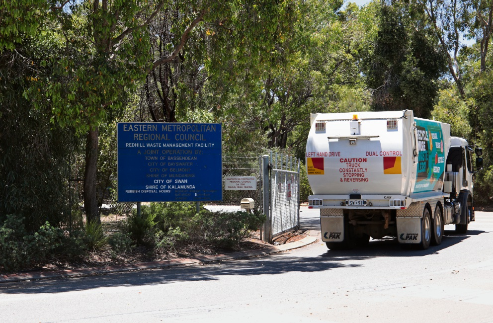 The entrance to Red Hill Waste Management Facility. Picture: David Baylis