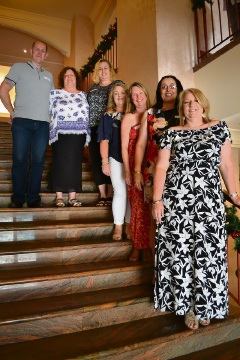Some members of the 2017 committee – Craig Baseley, Jennie Wood, Kylie Kershaw, Kerry Collings, Sharon Knott, Filomena LaVerghetta and Joanne Bayliss.