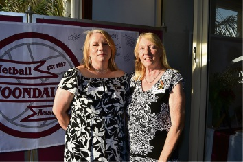 Current president and life member Jo Bayliss and 1997 committee member, past president and life member Carol Roberts.
