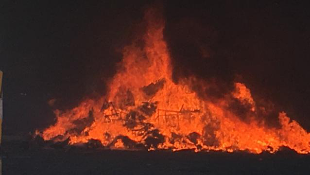 The fire at RCB on December 16.