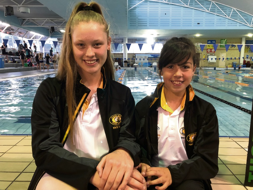 Thornlie Swimming Club's state representatives Jordan Preece and Taleisha Hurford.