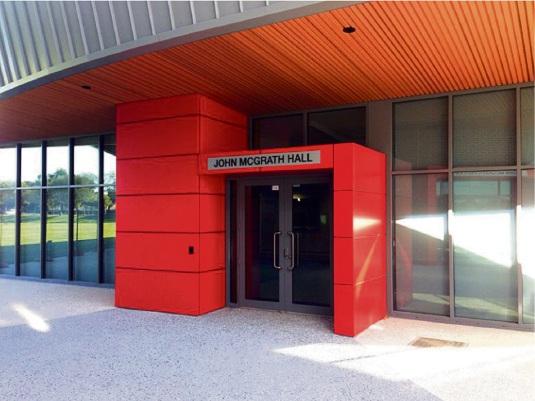 Ernest Johnson Reserve (EJ) community facility buildings named after South Perth MLA John McGrath.