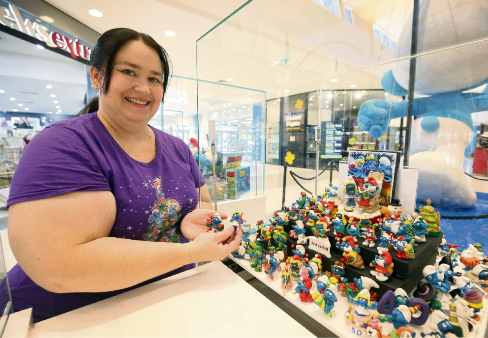 WA's biggest Smurf Collection on display at Cockburn Gateway thanks to collector Linda Jubb. Picture: Matt Jelonek www.communitypix.com.au d478043