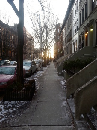 Michael Thomas, Sunrise on 129th Street NYC, January 1 at 7.30am