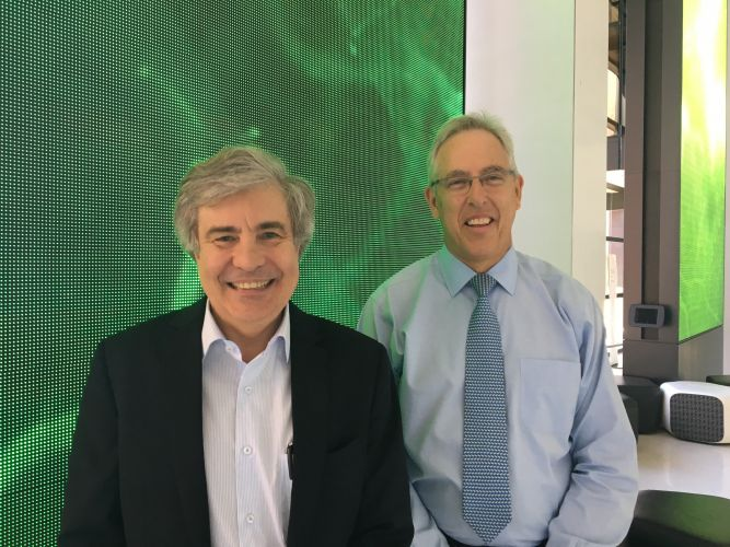 Professor Michael Millward and Professor Peter Leedman at the Harry Perkins Institute of Medical Research, which has just opened the WA Kirkbride Melanoma Advisory Service (WAKMAS).