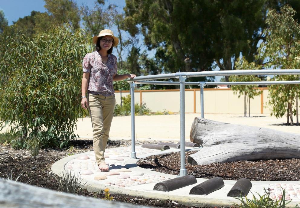 City of Canning designer and landscape architect Nanette Nguyen Park at Dabchick Park. Picture: Matt Jelonek www.communitypix.com.au   d478180