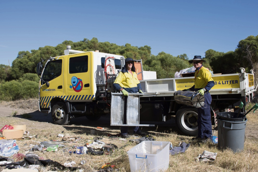An illegal dumping job the LitterBusters team attended last week.