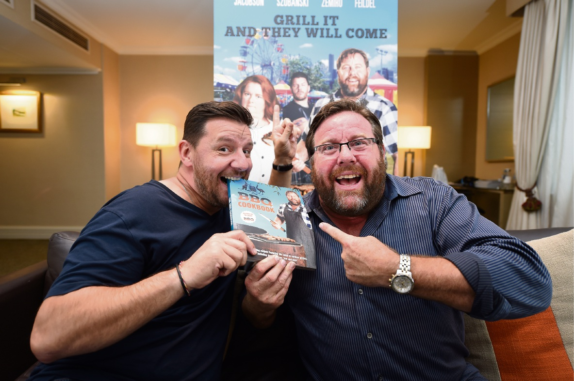 Manu Feildel (left) and Shane Jacobson.