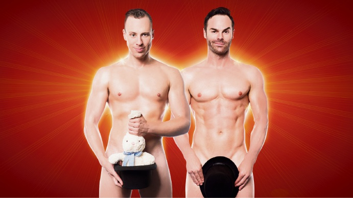 Naked Magicians Mike Tyler and Christopher Wayne.