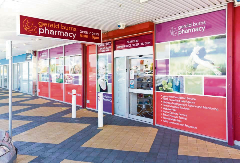 About $200 was nabbed from a Gerald Burns Pharmacy in Bicton on Sunday. Picture: Facebook.