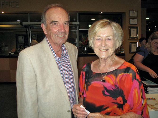 David Waddell and his wife, Professor Jo Barker.