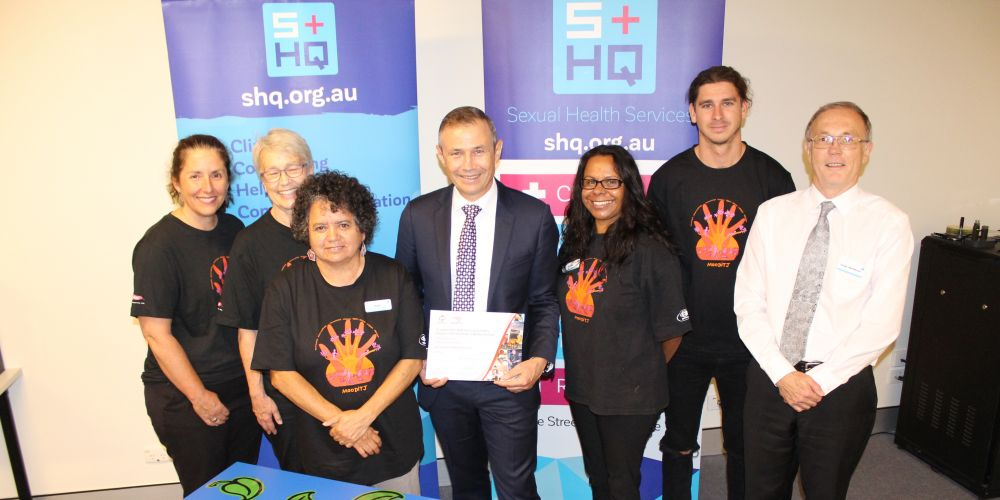 Karen Molhuysen, Rose Murray, Shelley Coleman, Health Minister Roger Cook, Robyn Wansbrough, Jefferson Turner, Julian Henderson.