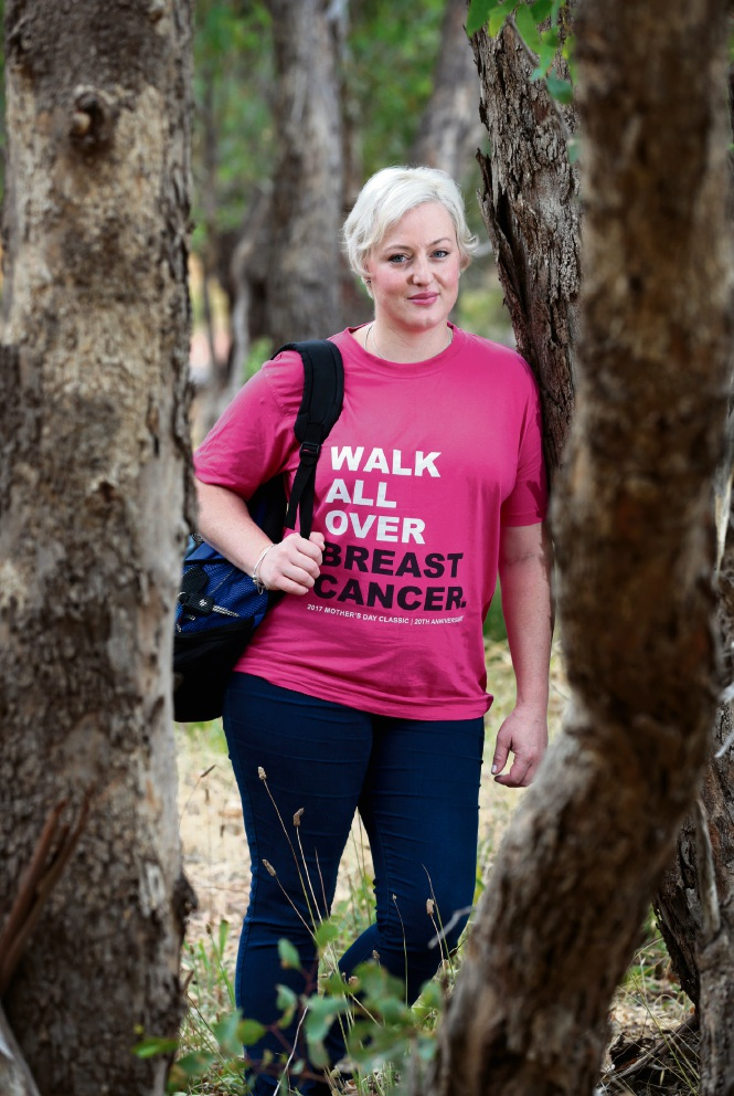Farrah Millar of Midvale, in training for the National Breast Cancer Foundation Steps Towards Research Great Wall Trek 2018. Photo: David Baylis