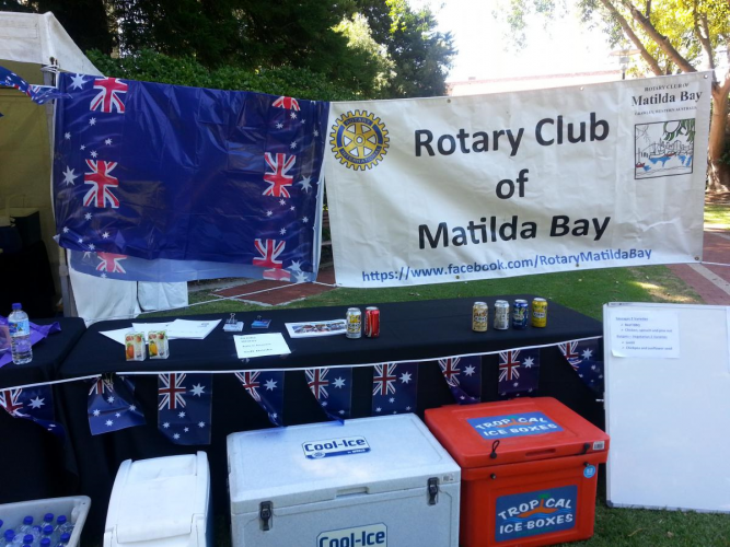 The Rotary Club of Matilda Bay is ready for parking for the fireworks on Australia Day.