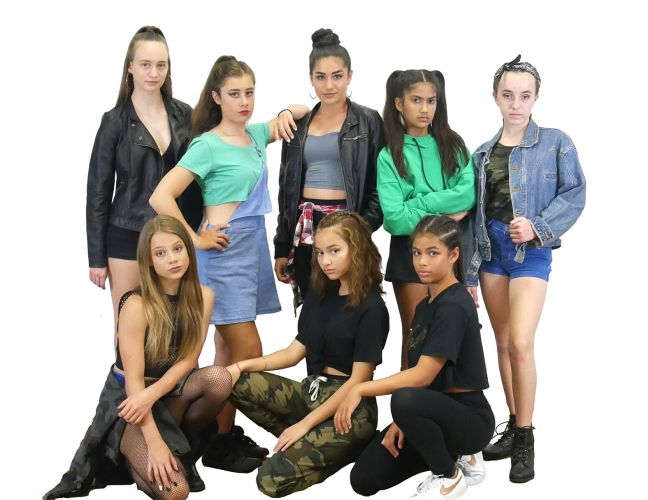Bring It On features Como resident Lara Clarke (left back), Taylor-Anne Bright, Holly Newton, Aliyah Gelmi and Emma Downs, Liana Samut (left front) , Ashley Elliot and Zahli Ford.