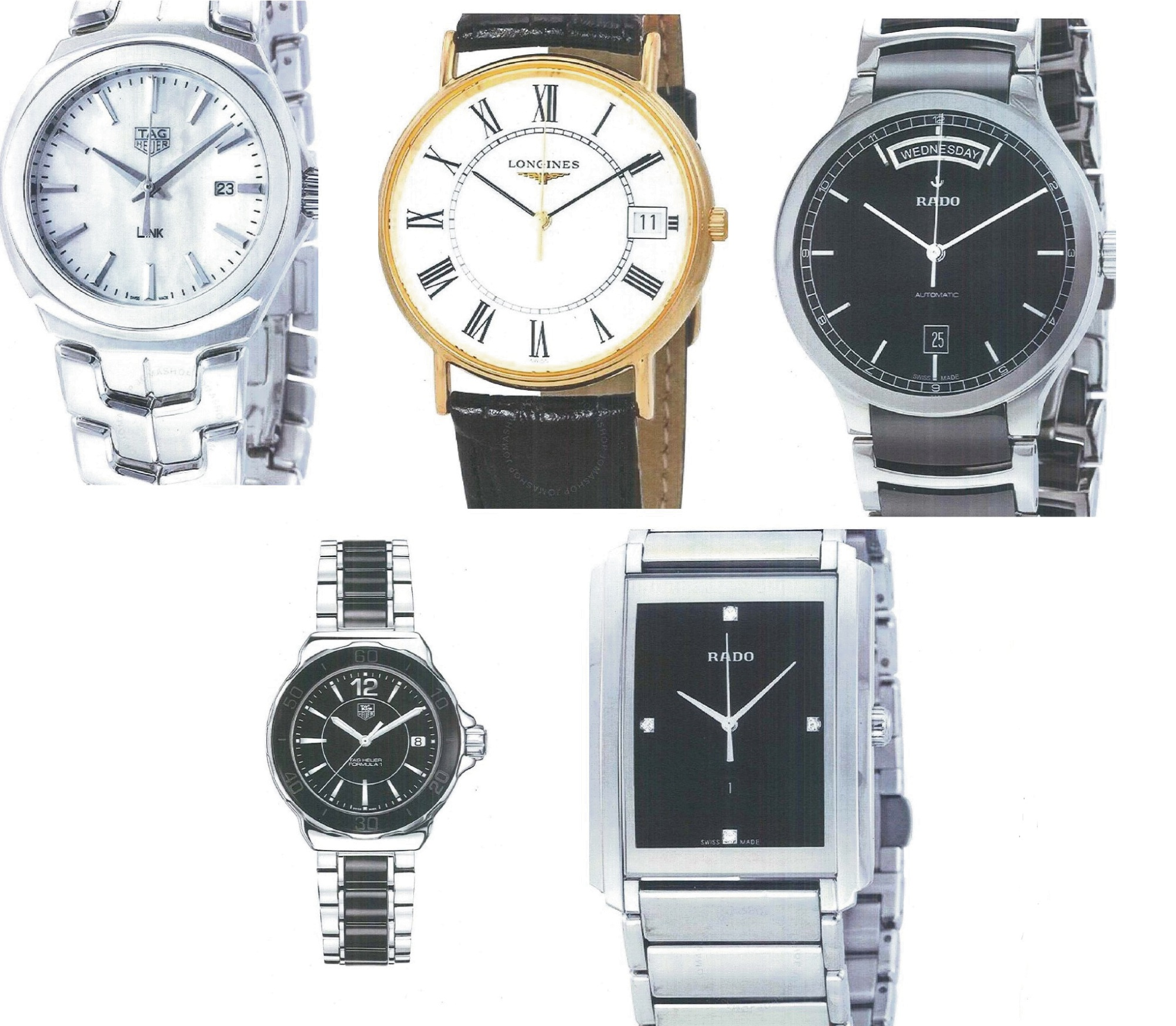 Police are looking for these stolen watches.