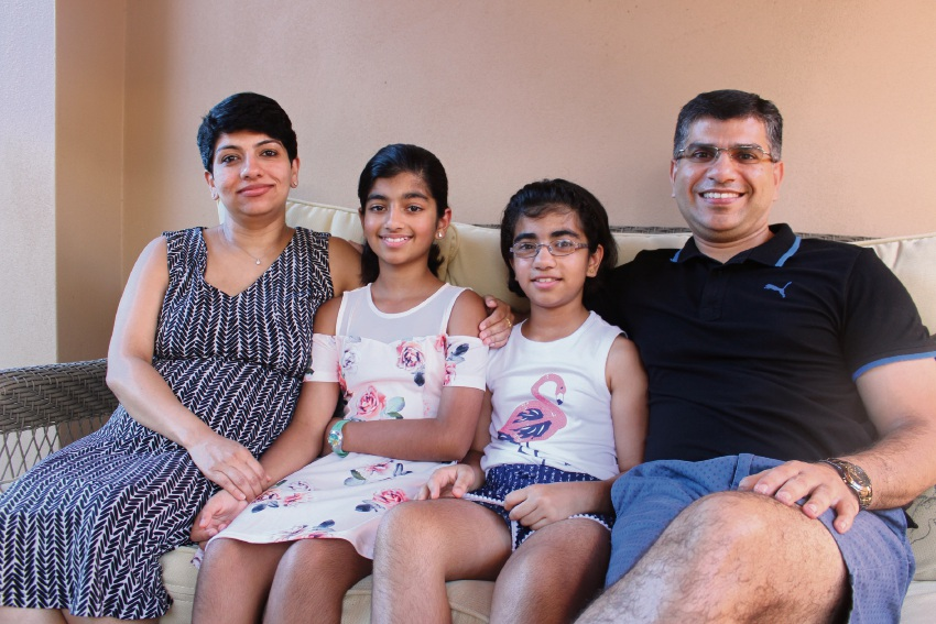 Mt Pleasant family Ansu Abraham, Suzanne (11) Michelle (8) and Thomas Thompumkuzhiyil Kurien will become Australian citizens on Australia Day.