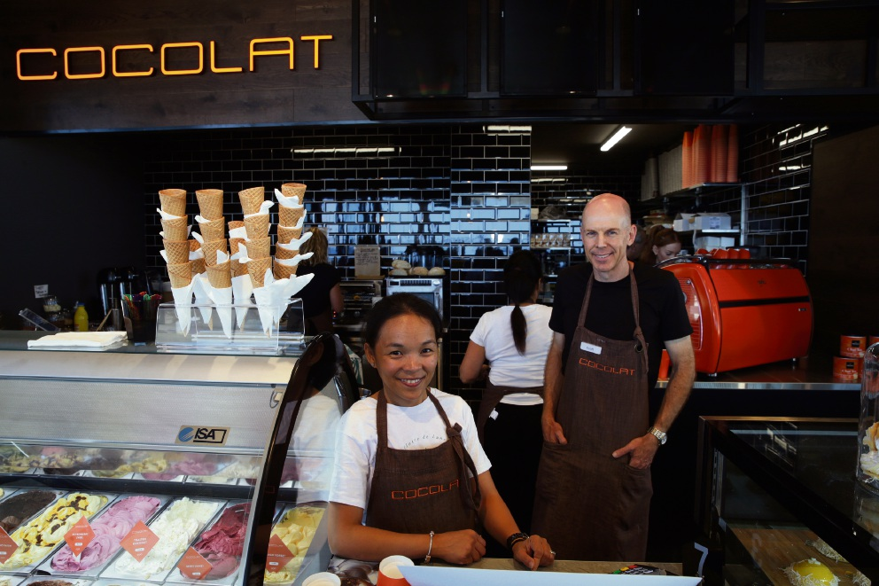 Maricar and Scott Bradley (Scarborough), owners of Cocolat. Photo: Martin Kennealey