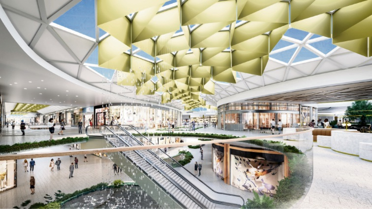 Artist's impressions of the $750 million revamp of Garden City.