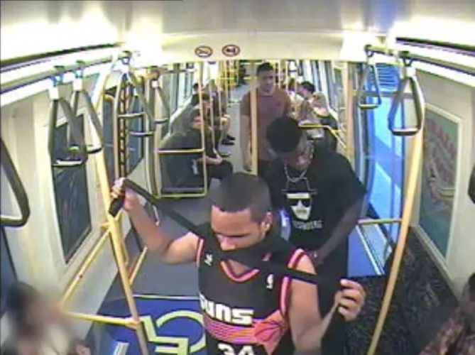 Police have released CCTV of men wanted in relation to an assault on Armadale train line.