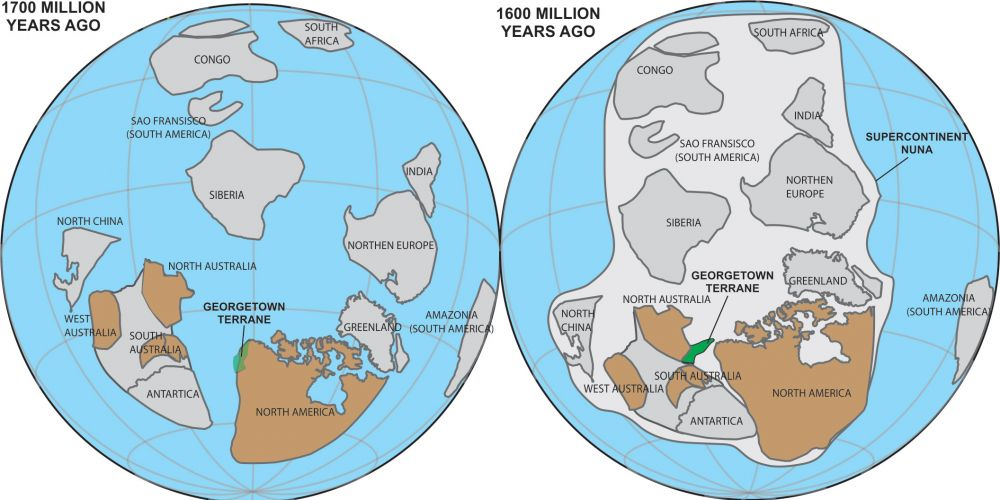 Researchers believe Australia was part of North America 1.7B years ago