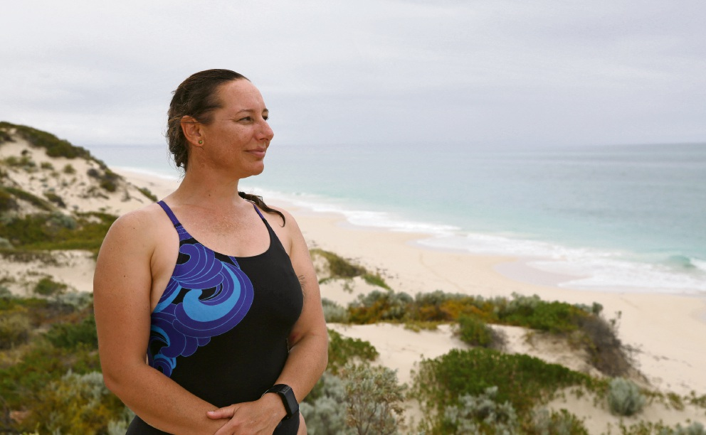 Maren Scriven is preparing for her fifth Busselton Jetty Swim.  Picture: Martin Kennealey www.communitypix.com.au   d478380