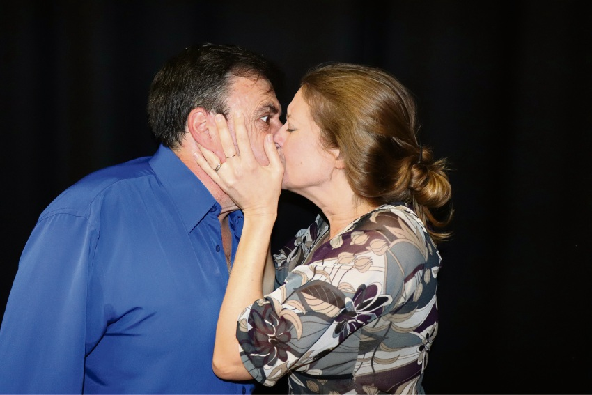 Marble sees desperate passions erupt between Art (Joe Isaia) and Anne (Kylie Isaia) – husband and wife in real life and on stage.