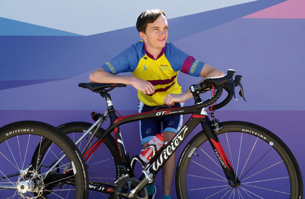 Para-cyclist Andrew Bannister has defied the odds to succeed in sport.  Picture: Martin |Kennealey  d478215