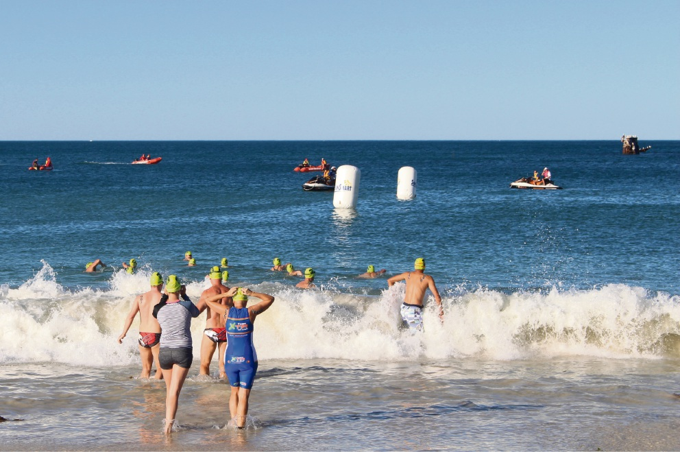 The Alkimos wreck will form a backdrop to stage nine of Swimming WA's Open Water Swimming Series this February.