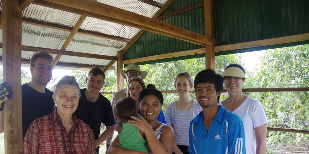 Part of the team that built houses in Cambodia last year.