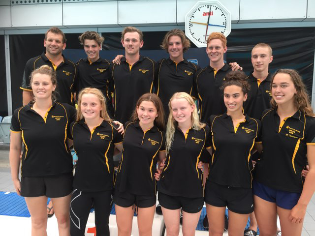 The WA team, which placed third overall at the Australian Pool Life Saving Championships.