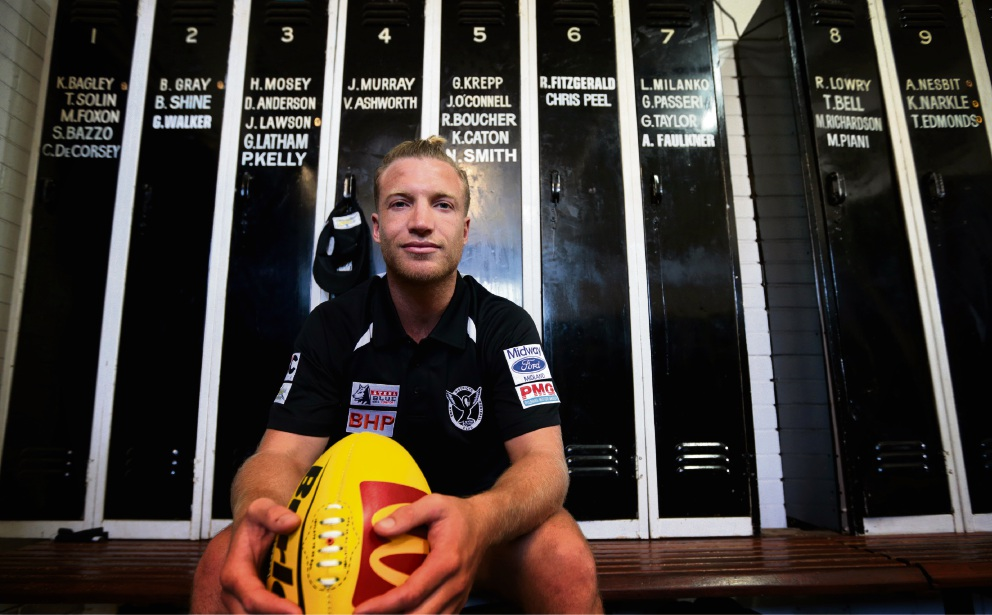 Former Carlton, GWS and Fremantle midfielder Rhys Palmer has signed a two-year contract with Swan Districts after he was delisted by Carlton last year. He returns to WA after playing 123 AFL games since being drafted at pick seven in the 2007 draft. Picture: David Baylis