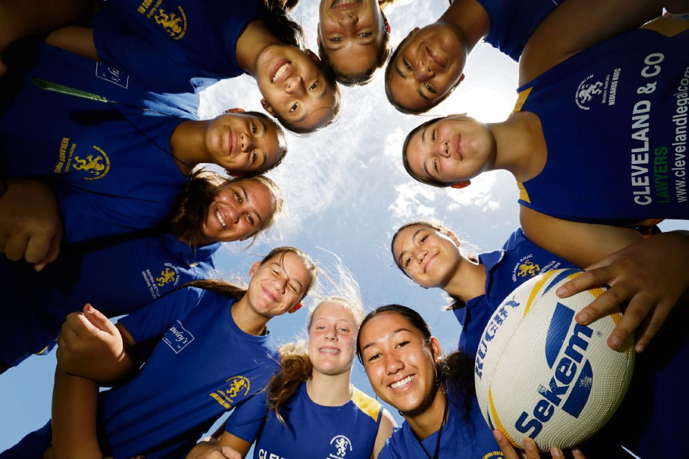 Clockwise: Keira Macaskill (with ball, 13) Alexander Heights, Melodie Toby (14) Ballajura, Grace McFillin (13) South Lake, Shanika Rowe (11) Byford, Aroha Reedy (13) Canning Vale, Liana Tuhakaraina (12) Casuarina, April Alan (13) Wellard, Cara Gerber (13) Currambine, Shontae Jetta (13) Cockburn, Shiane Kani (14) Armadale. The Nedlands girls 7s are getting ready to head over to an international rugby tournament in Hong Kong. They won the Junior Sports Star Team in last year's Local Sports Star awards. Picture: Andrew Ritchie www.communitypix.com.au