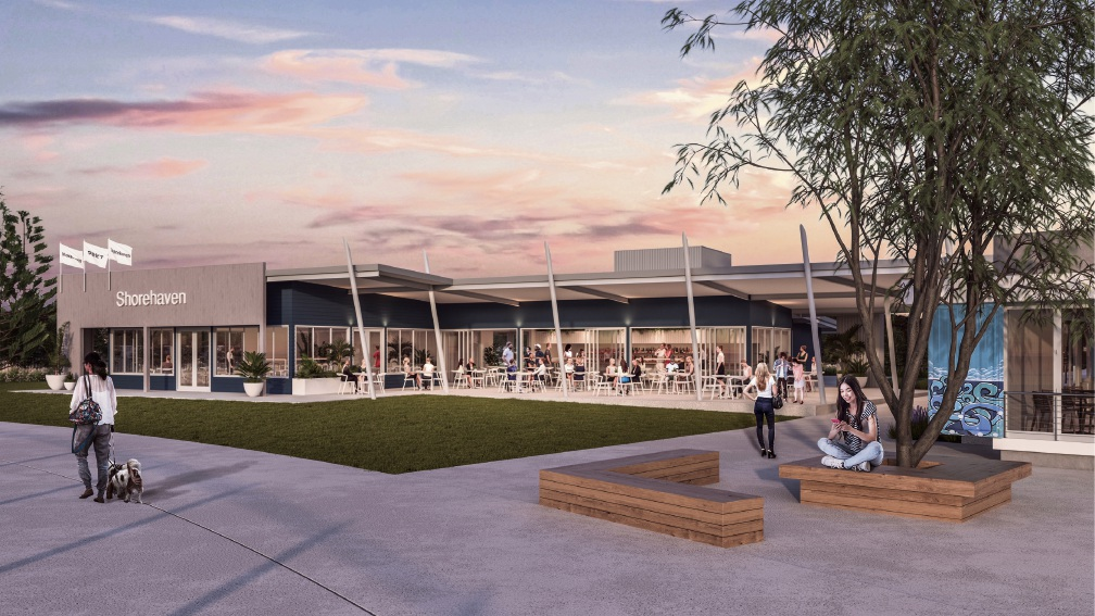 An artist's impression of the Shore Cafe expansion.