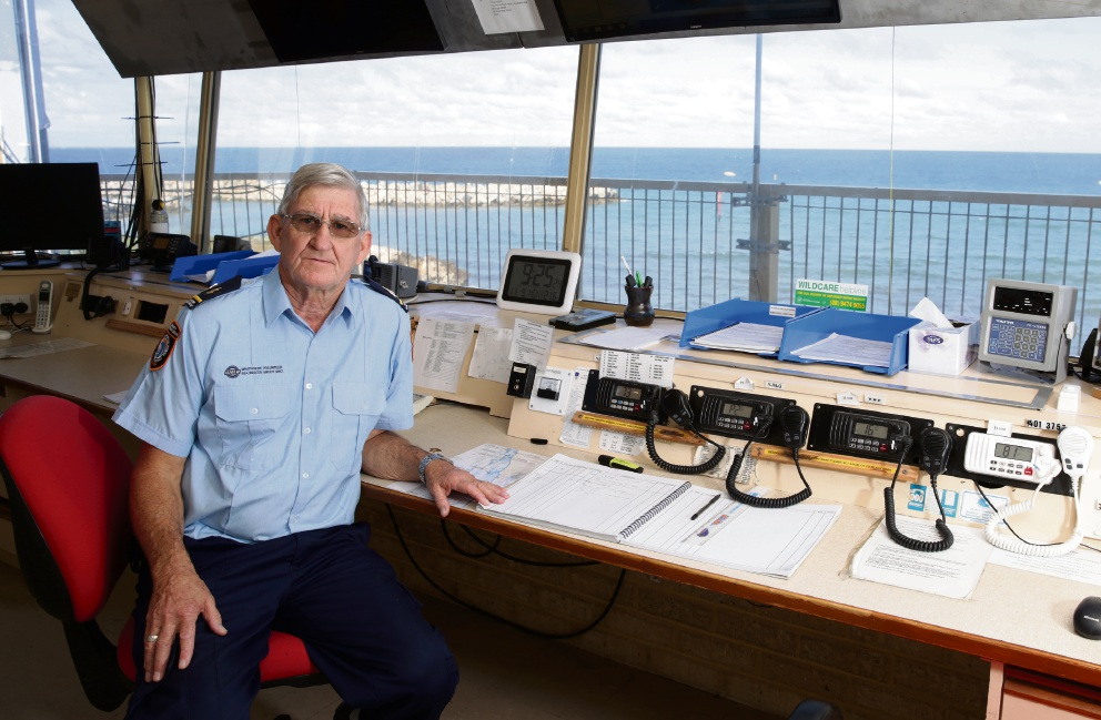 Whitfords Volunteer Sea Rescue Group member Peter Peebles (radio operations leader). Photo: Martin Kennealey