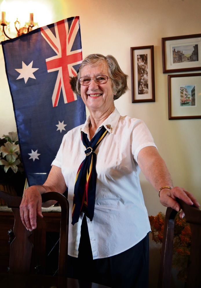 Thea Brown of Kalamunda has been a Guide since 1951 and will receive an Australia Day honours award for service to youth through Guiding. Photo: David Baylis
