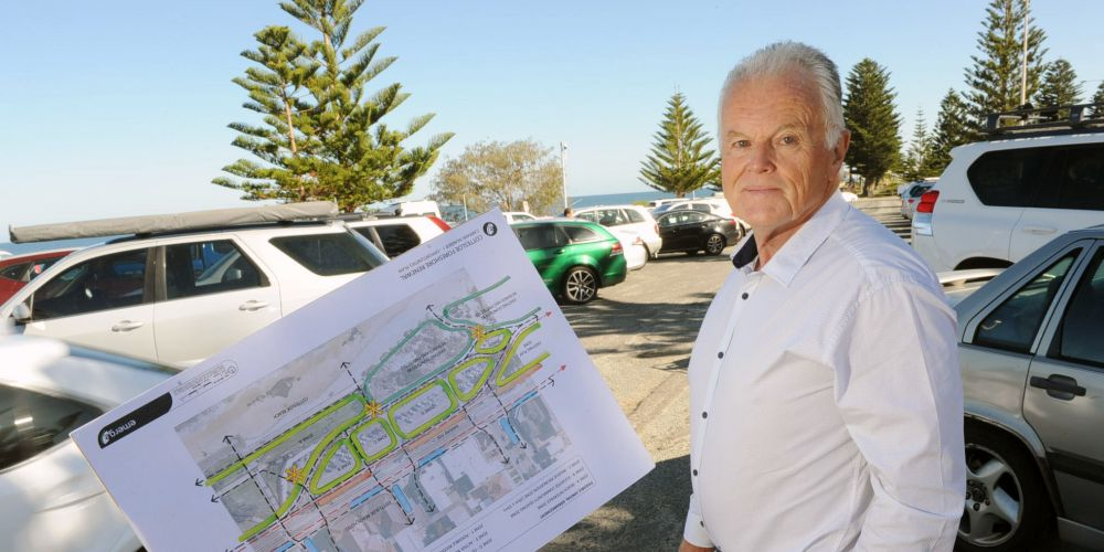 Cottesloe Mayor Philip Angers wants comment on plans to get rid of the tarmac and green the carpark at Cottesloe Beach. Picture: Jon Bassett.
