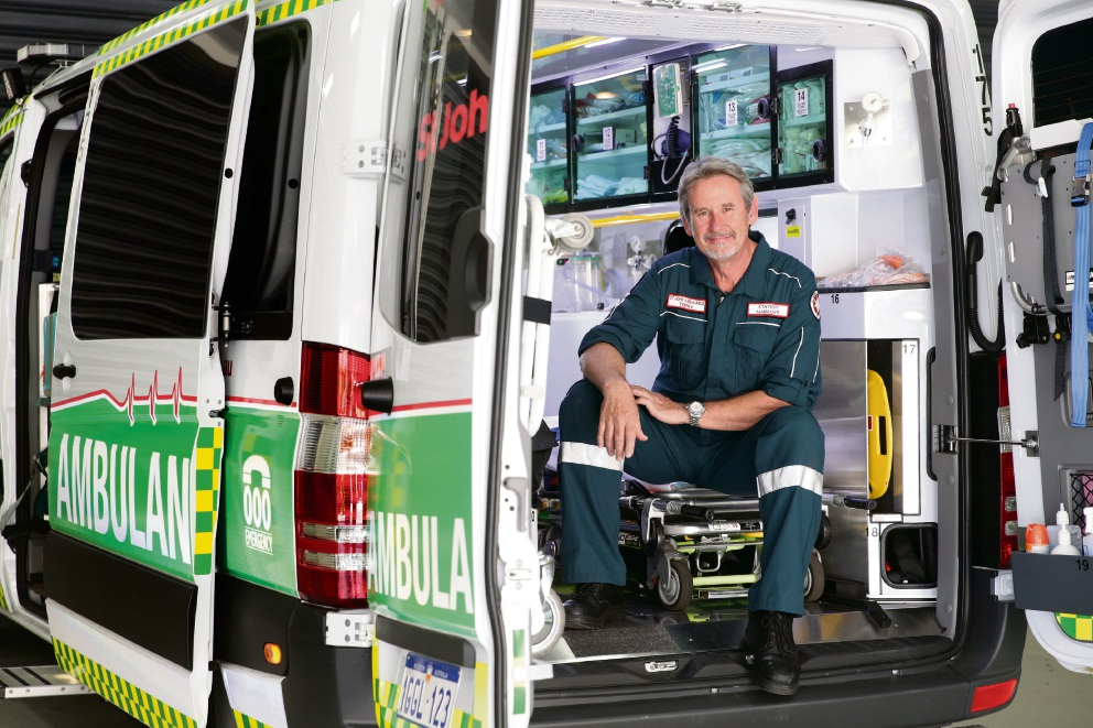 Terry Ward (Kingsley) station manager Joondalup Ambulance Station. Photo: Martin Kennealey