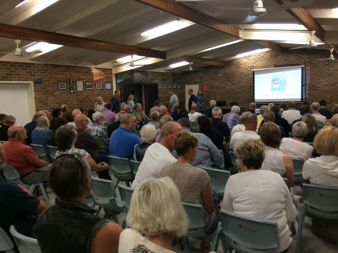 More than 200 people attended an Edgewater Community Residents Association meeting this month.