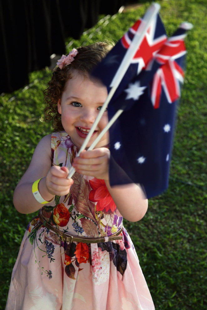 Elsa McCabe (3), of Carramar, attended the City of Wanneroo's Australia Day citizenship ceremony with her family. Pictures: Martin Kennealey www.communitypix.com.au d478670